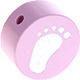 Houten kraal babyvoetjes babyroze ''babyproof''