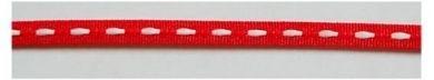 Lint rode met witte stiksels 4mm