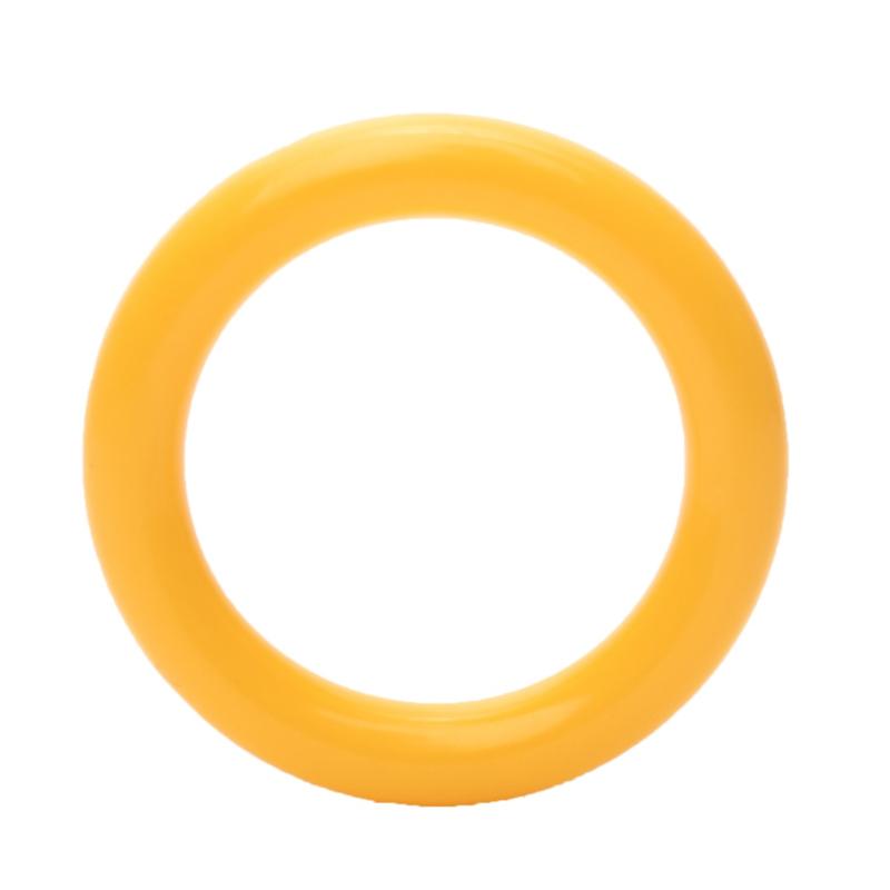 Durable Plastic Ringetje 40 mm Geel - 5 stuks