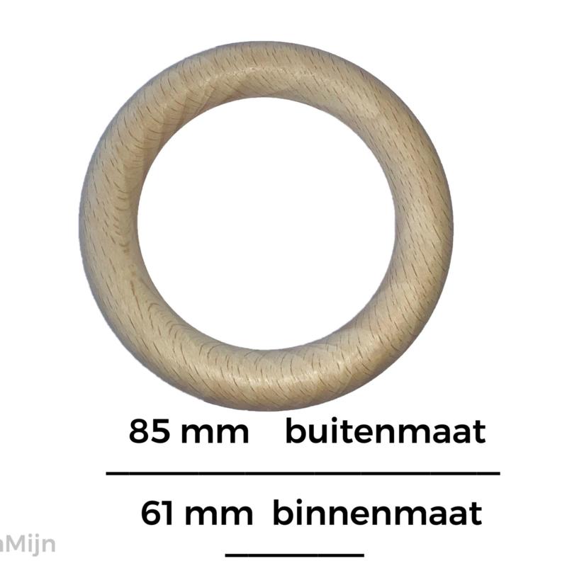Houten beuken ring 85mm x 12mm