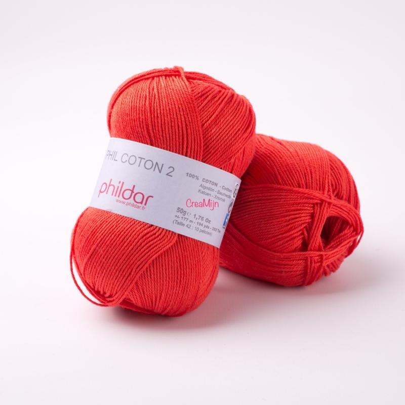 Phildar Coton 2 Rouge 0084