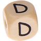 Houten Letterkraal gegraveerd 10mm  - D -