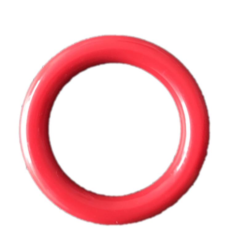 Plastic Ringetje 40 mm Rood