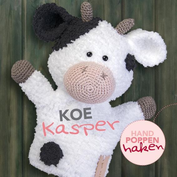 Haakpakket Koe Kasper uit boek Handpoppen haken Cute Dutch