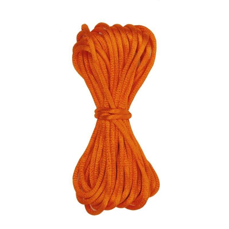 Kumihimo Satijnkoord 2mm Oranje