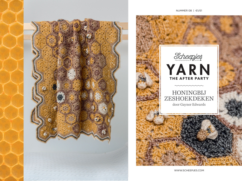 Yarn, the after party Patroon  Honingbij zeshoekdeken nr 8