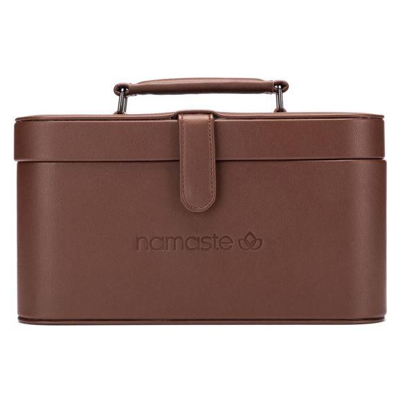 Namaste Train Case groot  30,5 x 16,5x 15,2cm  Bruin