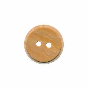 Houtlook acryl knoop 15mm lichtbruin