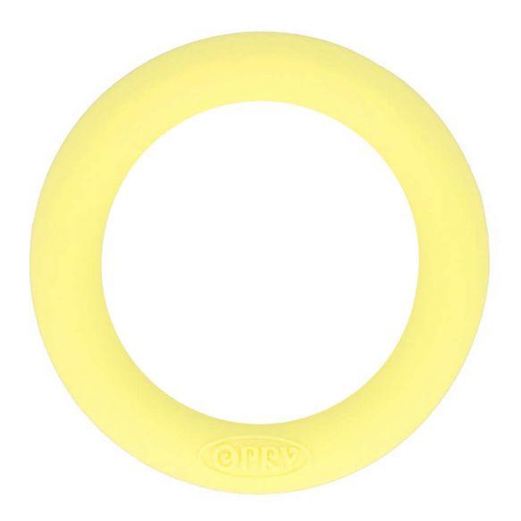 Opry siliconen bijtring 65mm kleur 638 Zachtgeel