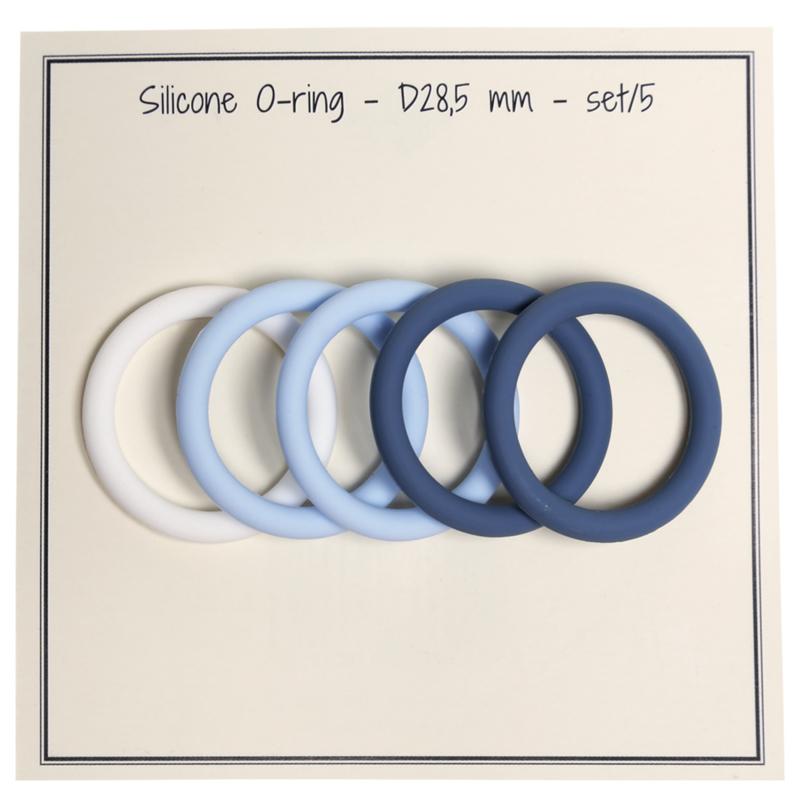 Siliconen O-Ring  (blauwe set van 5) Go Handmade