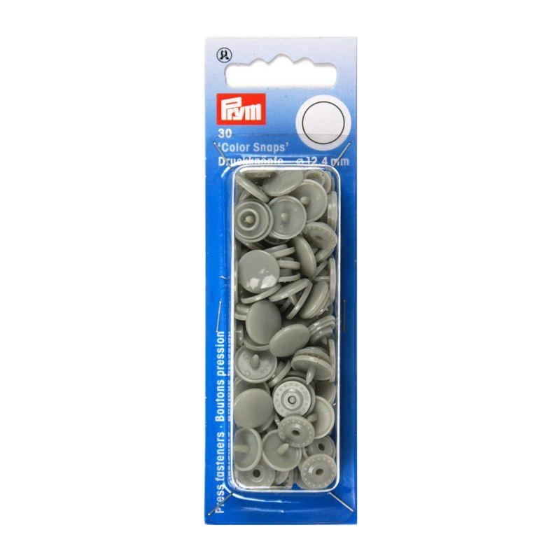 Kamsnaps Prym rond 12,4mm grijs