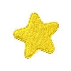 Ster Satijn Geel 3 x 3 cm