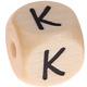 Houten Letterkraal gegraveerd 10mm  - K -