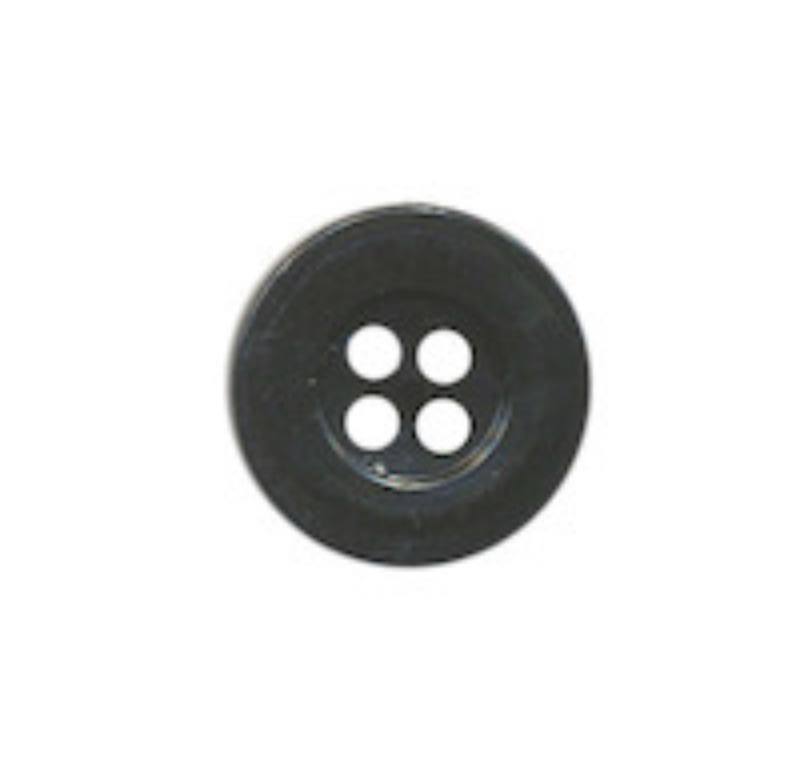 Zwart knoopje 15mm met 4 gaatjes