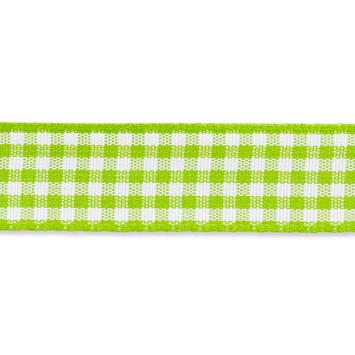 Geruit lint - vicky 10mm Licht Groen