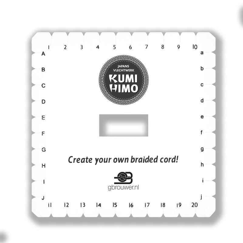 Kumihimo Disc Vierkant 14 x 14 cm