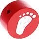 Houten kraal babyvoetjes rood ''babyproof''