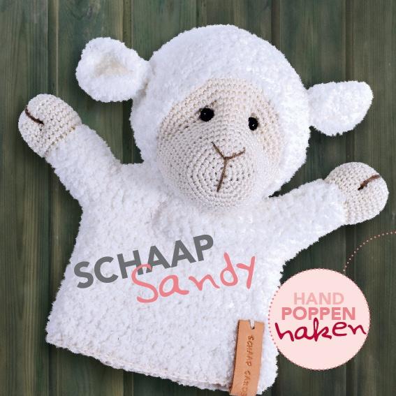 Haakpakket Schaap Sandy uit boek Handpoppen haken Cute Dutch