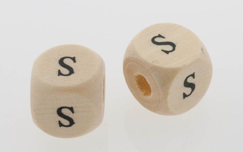 Letterkraal hout letter S