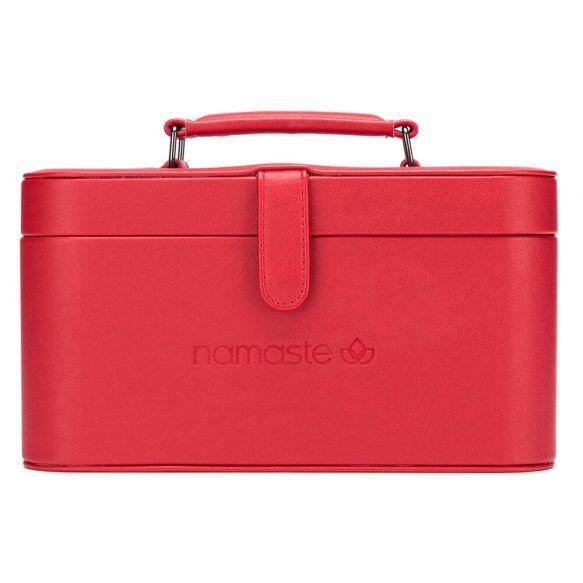 Namaste Train Case groot  30,5 x 16,5x 15,2cm  red
