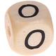 Houten Letterkraal gegraveerd 10mm   - O -