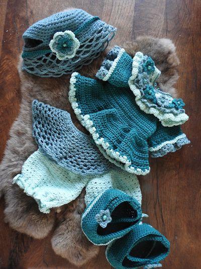 XXL Funny Bunny kledingset Fleury blauw/groen