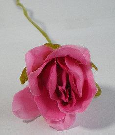 Roosje ter decoratie 20mm Roze Fuchsia