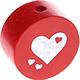 Houten kraal hart rood ''babyproof''