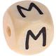 Houten Letterkraal gegraveerd 10mm   - M -