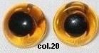 Oogjes lichtbruin/geel aannaaibaar 15 mm