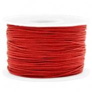 Waxkoord 1 mm Warm Red
