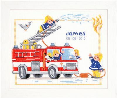 Bij de brandweer telpatroon aida
