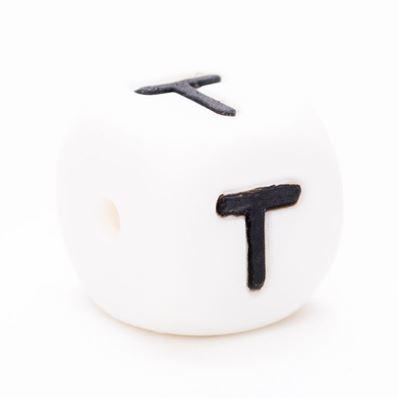 Siliconen letterkraal  - T