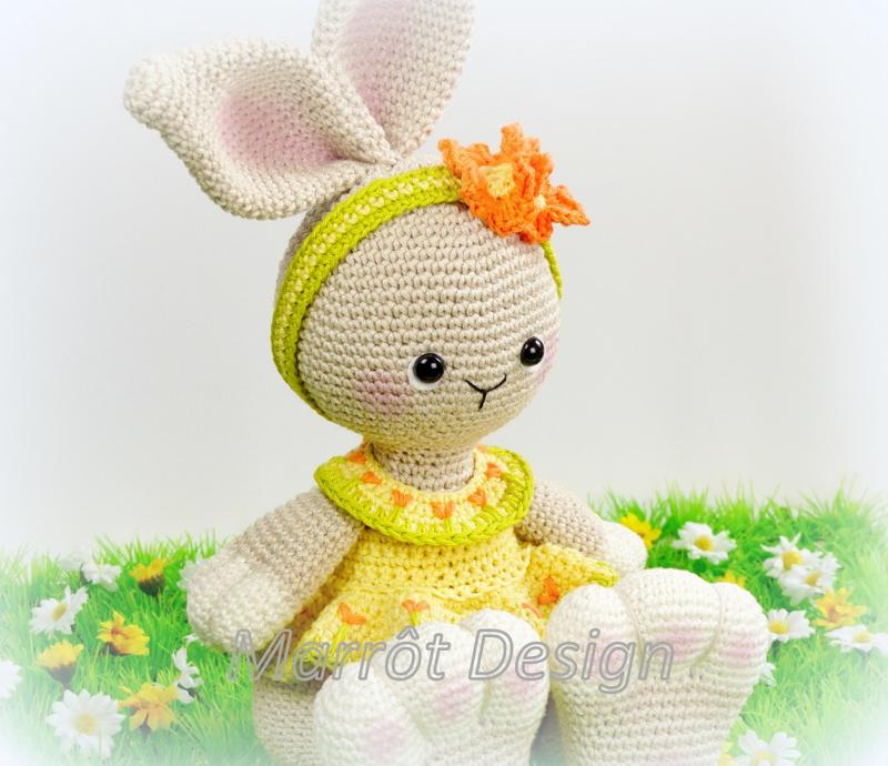 Cute Bunny Indy Garen en fourniturenpakket, patroon apart bestellen