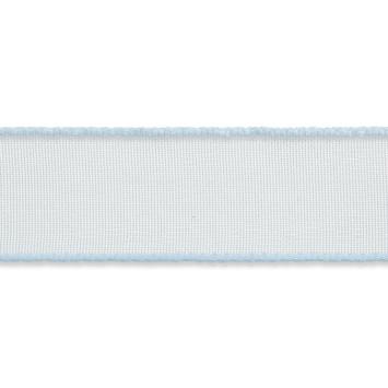 Organza lint 16mm breed Licht blauw