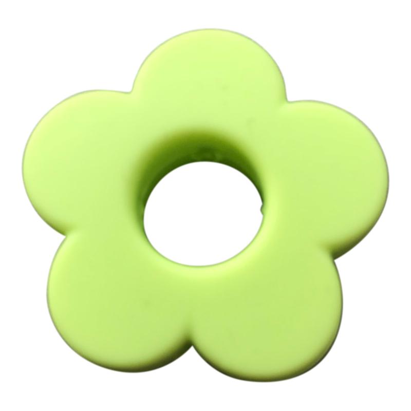 Siliconen bloem Licht Groen  28mm