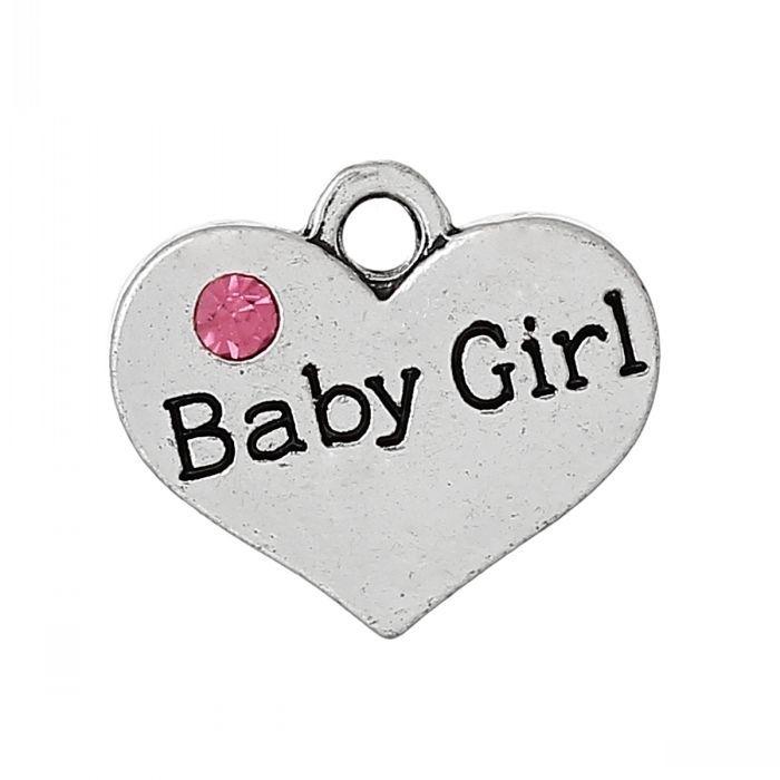 Bedel hart met Baby Girl 17mm