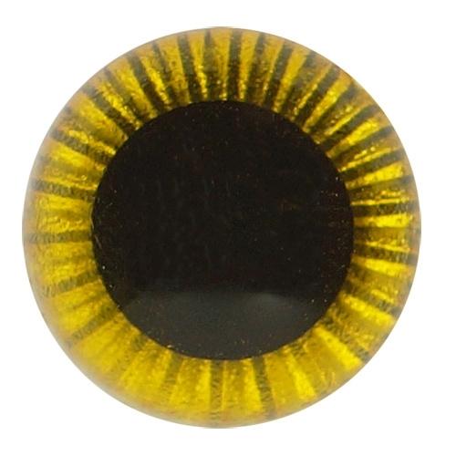 Uilenogen 12 mm Geel