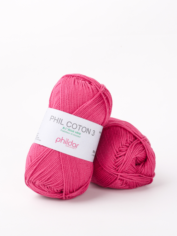Phil coton 3  Framboise 2144