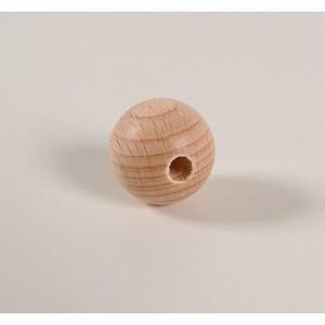Blanke houten kraal 25 mm