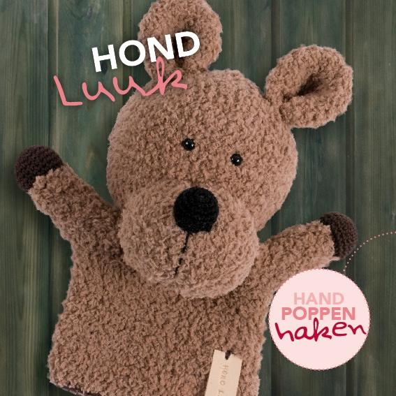 Haakpakket Hond Luuk uit boek Handpoppen haken Cute Dutch