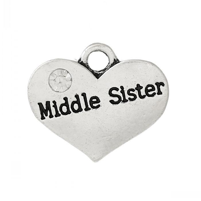 Bedel hart met middle Sister 17mm
