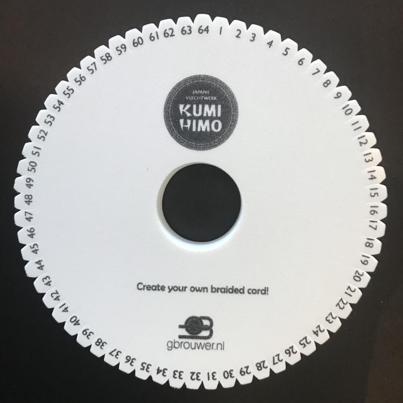 Kumihimo Disc Rond 15cm 64 inkepingen