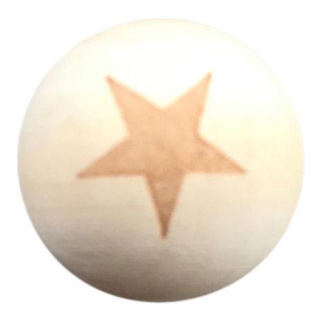 Houten kraal met Ster 20 mm