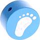 Houten kraal babyvoetjes hemelblauw ''babyproof''