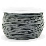 Waxkoord 1 mm Grey