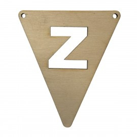 Houten vlagletter Z
