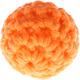 Gehaakte kralen met zachte vulling oranje
