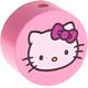 Houten kraal rond ''Hello Kitty'' roze ''babyproof''