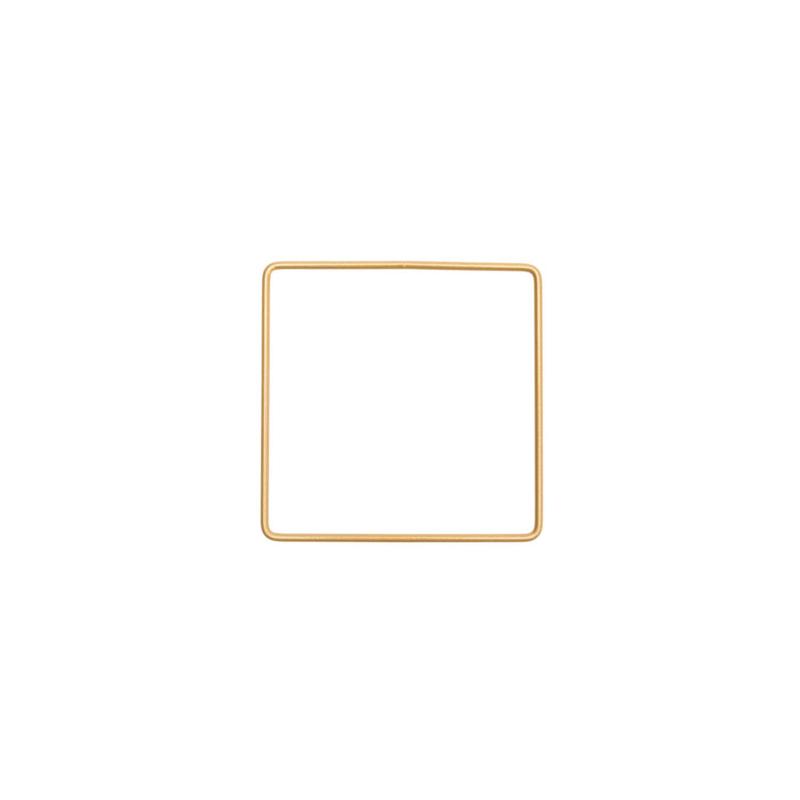 Metalen frame vierkant 10x 10cm Donkergoud
